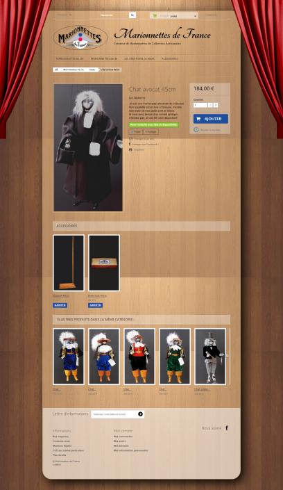 Screenshot MarionnettesDeFrance.com